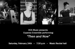 "OCA Music presents: Expanse Ensemble performing ""Then and Now"" @ Music Recital Hall at Southern Oregon University 