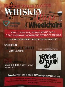 Whiskey, Wine and Wheelchairs @ Boomerang Therapy Works | Vancouver | Washington | United States