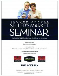 Sellers Market Seminar @ The Ackerly at Timberland  | Portland | Oregon | United States