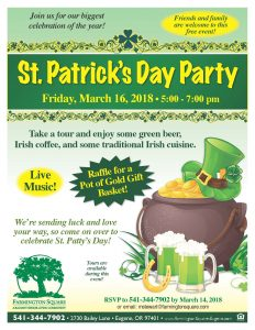 St. Patrick's Day Party @ Farmington Square Eugene | Eugene | Oregon | United States