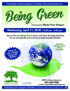 Being Green - Presentation by Waste Free Oregon @ Farmington Square Eugene | Eugene | Oregon | United States