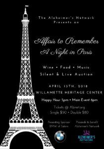 Affair to Remember -A Night In Paris @ Willamette Heritage Center | Salem | Oregon | United States