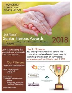 Awards Ceremony for People who Serve Seniors @ Club Green Meadows | Vancouver | Washington | United States