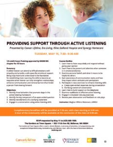 Providing Support Through Active Listening @ The Gardens at Town Square | Bellevue | Washington | United States