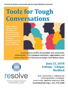 Toolz for Tough Conversations @ RCC/SOU Higher Education Center | Medford | Oregon | United States
