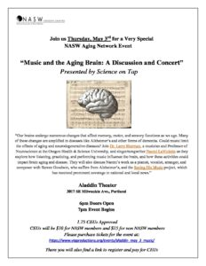 Music and the Aging Brain: A Discussion and Concert @ Aladdin Theater  |  |  |