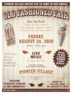 Old Fashioned Fair at Pioneer Village @ Pioneer Village | Jacksonville | Oregon | United States