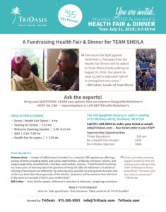 Health Fair and Dinner to Support Team Sheila and ENDALZ @ The Old Spaghetti Factory | Portland | Oregon | United States
