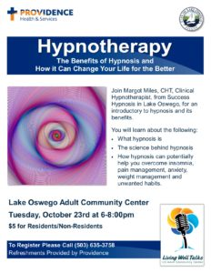 The Benefits of Hypnosis and How It Can Change Your Life for the Better @ Lake Oswego Adult Community Center | Lake Oswego | Oregon | United States