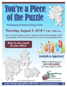 You're a Piece of the Puzzle - Professional Networking Event @ Sweetbriar Villa Assisted & Memory Care Living | Springfield | Oregon | United States