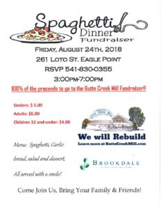 Spaghetti Dinner Fundraiser @ Eagle Point | Eagle Point | Oregon | United States