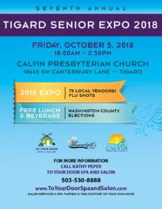 TIGARD SENIOR EXPO @ CALVIN PRESBYTERIAN CHURCH | Tigard | Oregon | United States