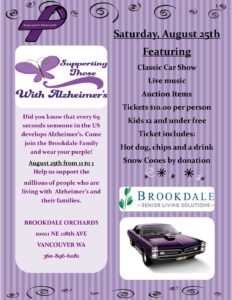 Classic Car Show Fundraiser for Alzheimer's @ Brookdale Vancouver Orchards | Vancouver | Washington | United States