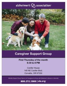 Alzheimer's Association Caregiver Support Group @ Conifer House | Corvallis | Oregon | United States