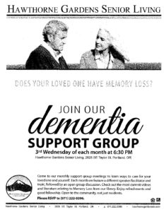 CANCELLED - Dementia Support Group @ Hawthorne Gardens Assisted Living & Memory Care | Portland | Oregon | United States