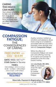 Compassion Fatigue: the Consequences of Caring @ STAR Center | Tacoma | Washington | United States