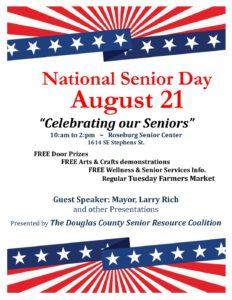 National Senior Day @ Roseburg Senior Center   Roseburg   Oregon   United States