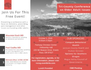 Tri-County Conference on Older Adult Issues @ Parkway Christian Center: Fellowship Hall | Grants Pass | Oregon | United States