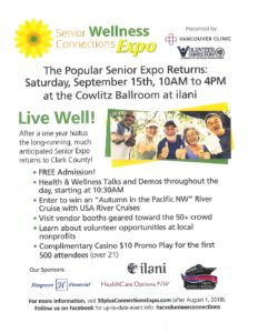 Senior Connections Wellness Expo presented by Vancouver Clinic and Volunteer Connections @ Cowlitz Ballroom at Ilani | Ridgefield | Washington | United States