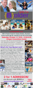 Living {B}older Lifestyle Expo: What's On Your Bucket List? @ Oregon Convention Center | Portland | Oregon | United States