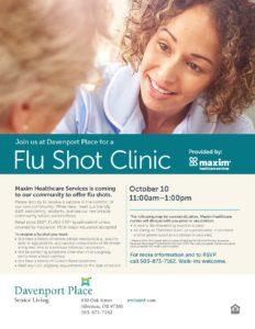 Flu Shot Clinic @ Davenport Place | Silverton | Oregon | United States