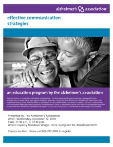 Effective Communication Strategies @ Country Meadows Village | Woodburn | Oregon | United States