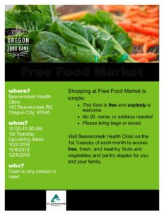 Oregon Food Bank - Free Food Market @ Beavercreek Health Clinic | Oregon City | Oregon | United States