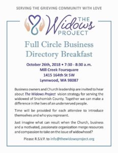 The Widows Project - Full Circle Business Directory Breakfast @ Mill Creek Foursquare Church | Lynnwood | Washington | United States