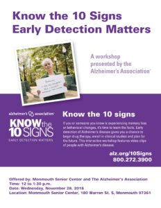 Know the Ten Signs: Early Detection Matters @ Monmouth Senior Center | Monmouth | Oregon | United States