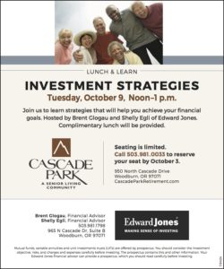 Investment Strategies Lunch & Learn @ Cascade Park  | Woodburn | Oregon | United States