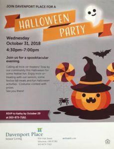 Spooktacular Halloween Party @ Davenport Place | Silverton | Oregon | United States