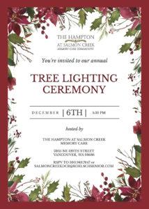 Holiday Tree Lighting Ceremony at The Hampton at Salmon Creek @ The Hampton at Salmon Creek Memory Care   Vancouver   Washington   United States