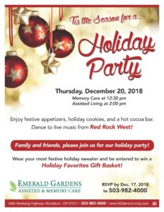 Holiday Party at Emerald Gardens @ Emerald Gardens | Woodburn | Oregon | United States
