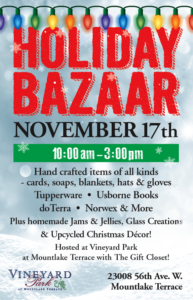 Holiday Bazaar - Vineyard Park at Mountlake Terrace @ Vineyard Park at Mountlake Terrace | Spanaway | Washington | United States