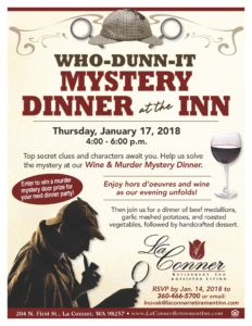 Who-Dunn-It MYSTERY DINNER at the INN @ La Conner Retirement Inn | La Conner | Washington | United States