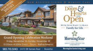 MorningStar of Beaverton Grand Opening Weekend @ MorningStar of Beaverton  | Beaverton | Oregon | United States