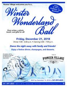 Winter Wonderland Ball @ Pioneer Village  | Jacksonville | Oregon | United States