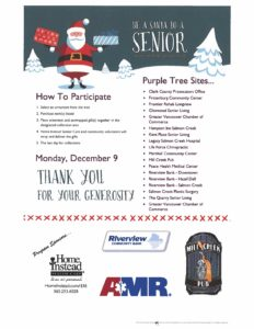 Be A Santa To A Senior @ Home Instead Senior Care Vancouver