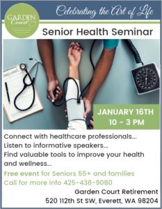 Senior Health Seminar @ Garden Court Retirement