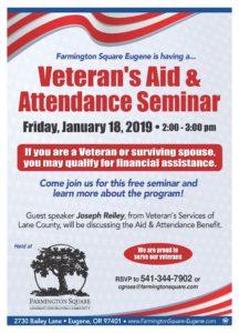 Veteran's Aid & Attendance Seminar @ Farmington Square Eugene