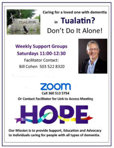 HOPE Dementia Support Group @ The Community at Marquis (on ZOOM) @ The Community at Marquis (with ZOOM option)