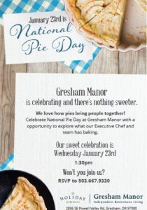 National Pie Day @ Gresham Manor