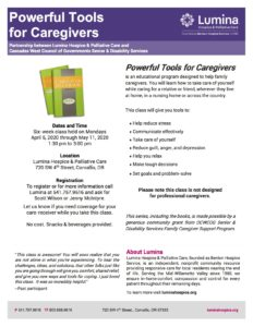 Powerful Tools for Caregivers @ Lumina Hospice & Palliative Care