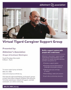 Alzheimer's Support Group - Tigard @ ZOOM