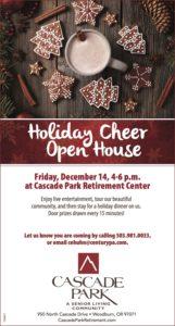 Holiday Cheer Open House @ Cascade Park Retirement Center