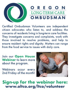 Long Term Care Ombudsman Training @ AllCare