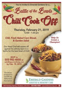 Battle of the Bowls - Chili Cook Off @ Emerald Gardens