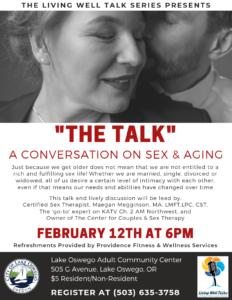 The Living Well Talk Series @ Lake Oswego Adult Community Center