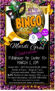 Not Your Grandmothers Bingo Mardi Gras Celebrations @ Center 50's +