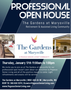 The Gardens at Marysville Professional Open House @ The Gardens at Marysville